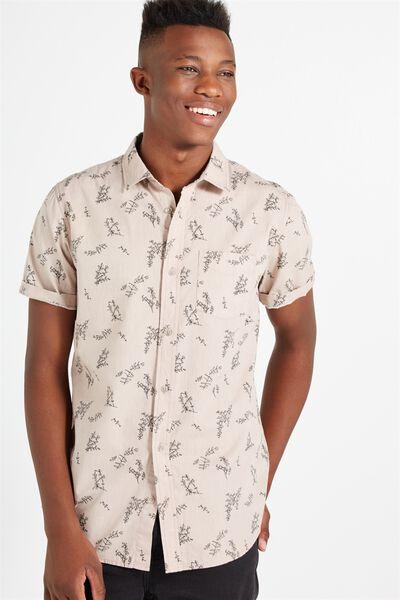 Sunset Short Sleeve Shirt, WASHED PINK GUMLEAVES