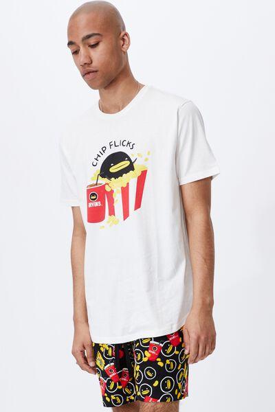Longline Scoop Lounge T-Shirt, LCN IRV VINTAGE WHITE/IRVINS SALTED EGG - CHI