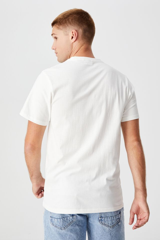 Ford T-Shirt, LCN FOR VINTAGE WHITE/FORD - MUSTANG