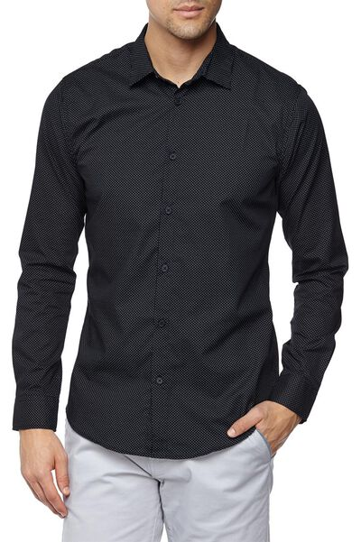 Slim Smart Shirt, POLKADOT BLACK