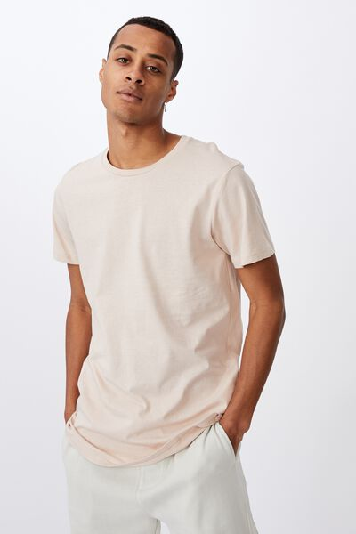 Essential Longline Scoop T-Shirt, ROSE DUST