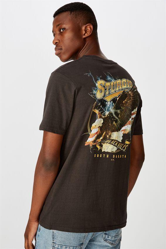 Tbar Moto T-Shirt, SK8 WASHED BLACK/STURGIS HILLS