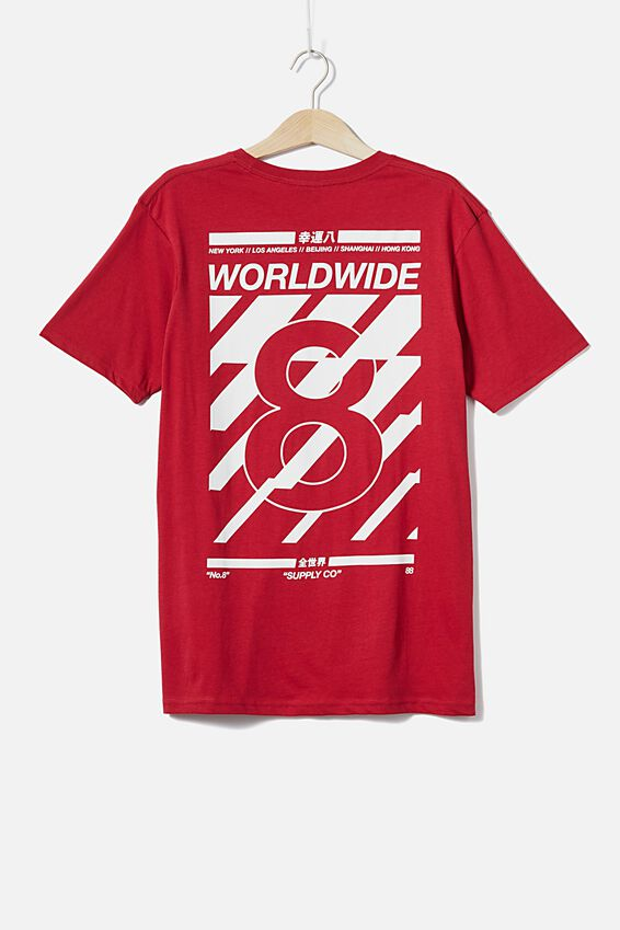 Tbar Cny T-Shirt, RACE RED/LUCKY 8 WORLDWIDE