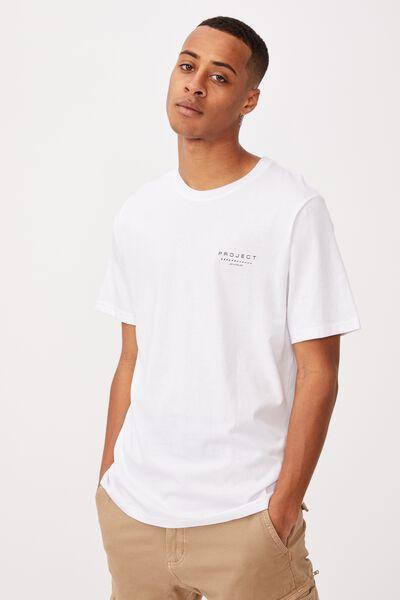 Tbar Street T-Shirt, WHITE/PROJECT FADE
