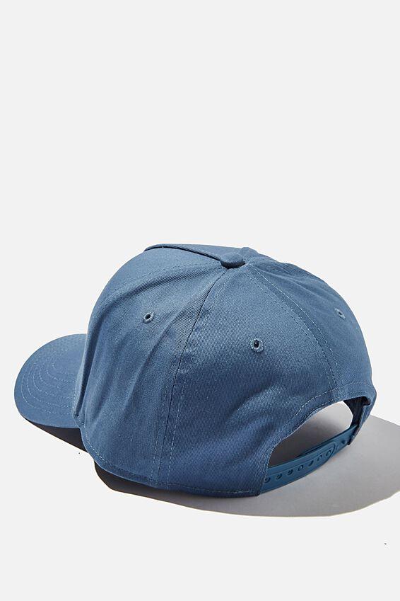 Curved Peak Snapback, STEEL BLUE/TONAL/LA