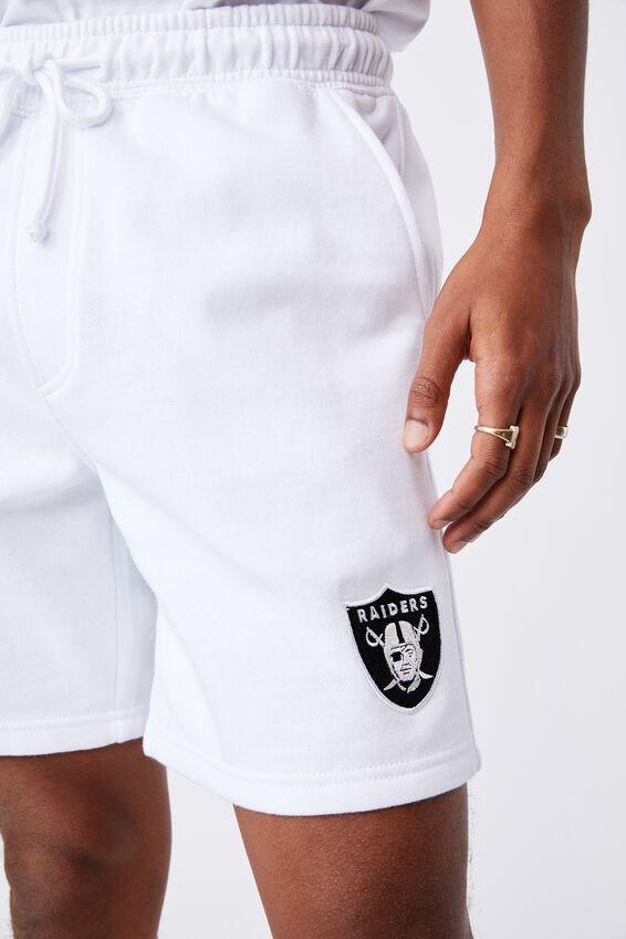 Active Nfl Fleece Short, LCN NFL WHITE/RAIDERS