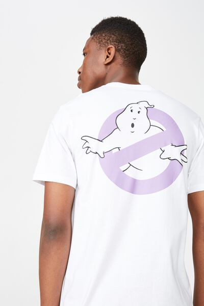 Movie And Tv T-Shirt, LC SK8 WHITE/GHOSTBUSTERS - JAPAN LOGO