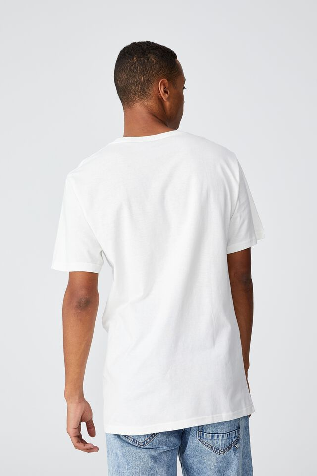 Tbar Collab Music T-Shirt, LCN LN VINTAGE WHITE/METALLICA-SORROW
