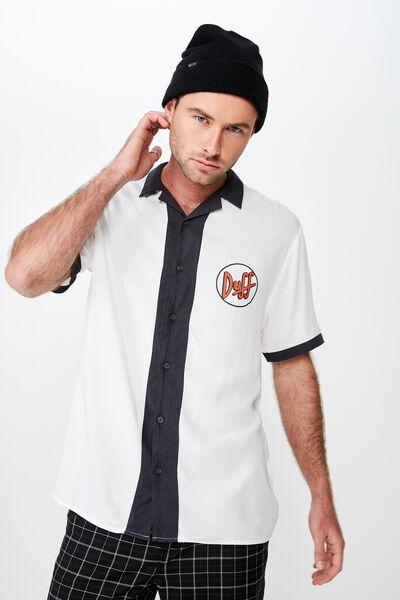 Collaboration Short Sleeve Shirt, SIMPSONS DUFF