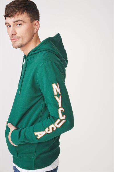 Fleece Pullover 2, POSY GREEN/NYC USA