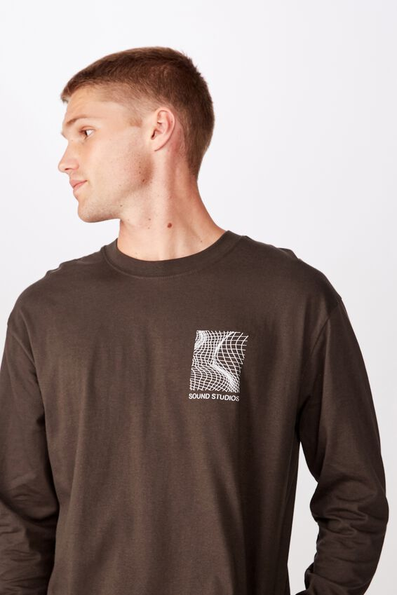 Tbar Long Sleeve, WASHED BLACK/COLLECTIVE NY MESH