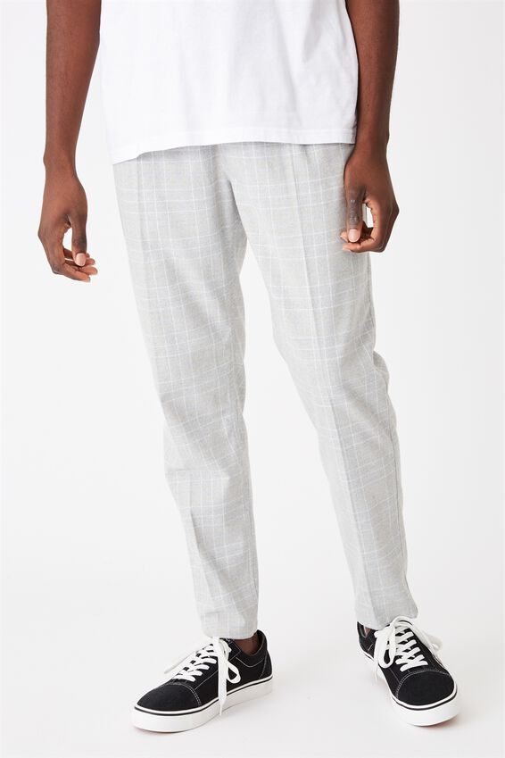 Oxford Trouser, LIGHT GREY/WHITE CHECK