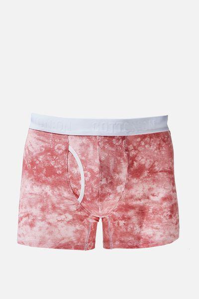 Mens Organic Cotton Trunks, DUSTY ROSE/WHITE/TIE DYE