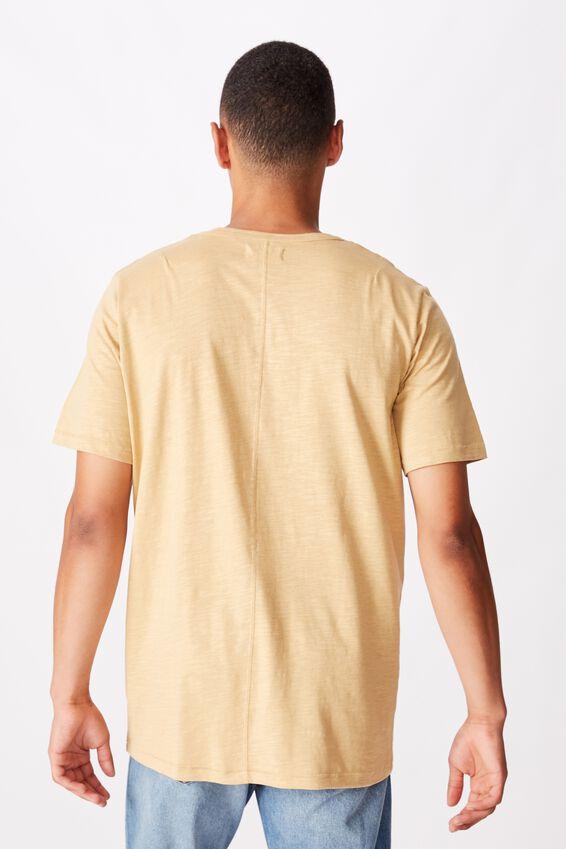 Slub Henley T-Shirt, LIGHT CAMEL
