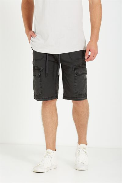 Surplus Cargo Short, WASH BLACK