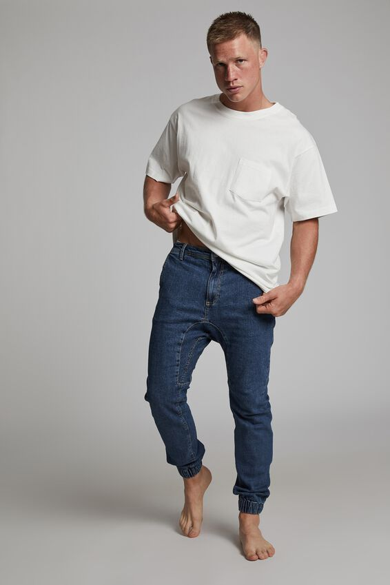 Slim Denim Jogger, COOGEE BLUE