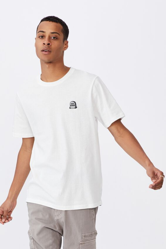 Tbar Art T-Shirt, VINTAGE WHITE/YOUR OPINION