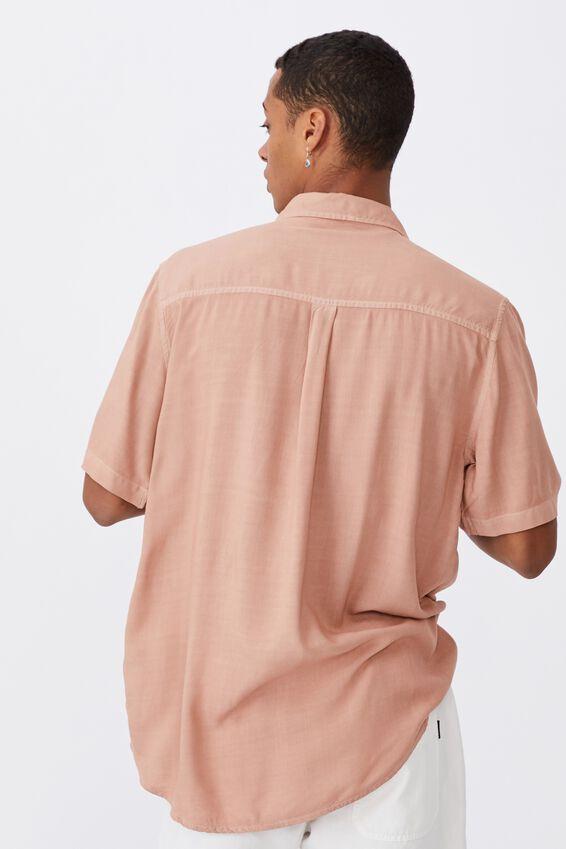 Cuban Short Sleeve Shirt, CLAY
