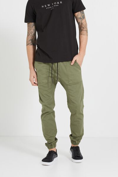 Customised Drake Cuffed Pant, OLD KHAKI # 25