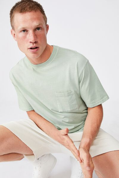 Washed Pocket T-Shirt, PISTACHIO