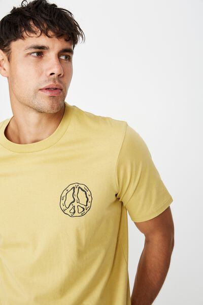 Tbar Art T-Shirt, FROSTED HONEY/PEACE MELT