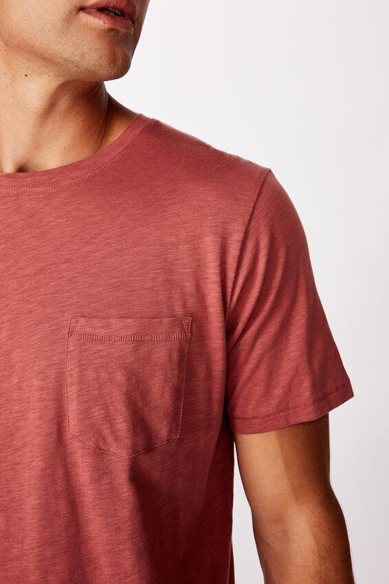 Slub Crew T-Shirt, OX BLOOD