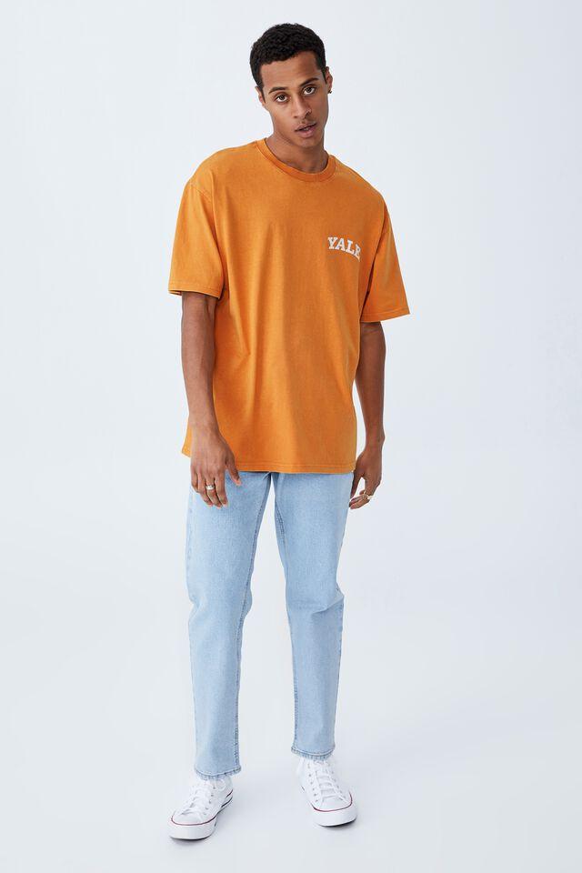 Special Edition T-Shirt, LCN YAL BUCKSKIN GOLD/YALE-VINTAGE LOGO