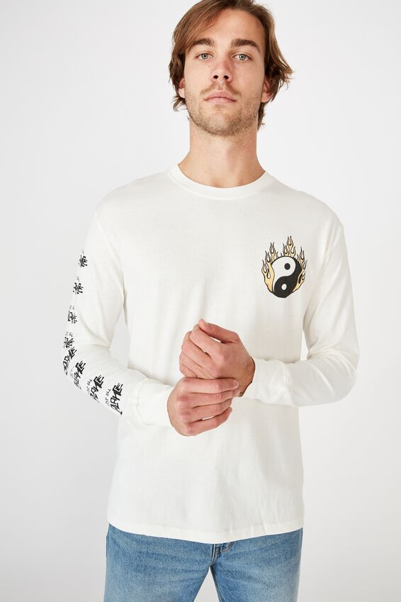 Tbar Long Sleeve, VINTAGE WHITE/LOST ALL BALANCE