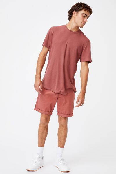 Washed Chino Short, PIGMENT WASHED RED