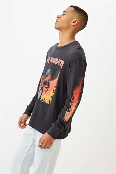 Special Edition Long Sleeve, LCN IRM BLACK/IRON MAIDEN - FLAMES