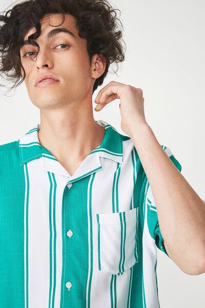 Festival Shirt, GREEN VERT STRIPE