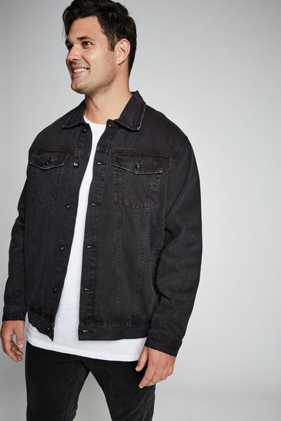 Bg Rodeo Denim Jacket, DISTRESSED BLACK
