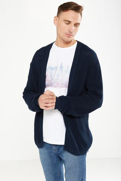 Lightweight Cable Cardi, NAVY CABLE
