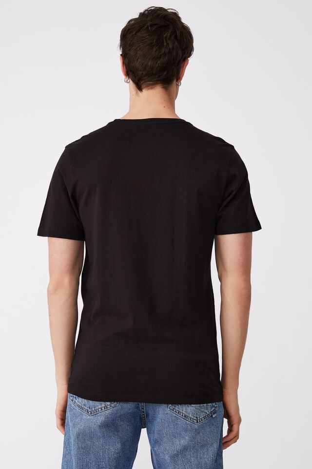 Essential Crew T-Shirt Party Personalised, BLACK/LAST NIGHT OUT