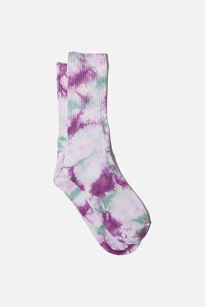 Special Edition Active Sock, PURPLE/SAGE/TIE DYE