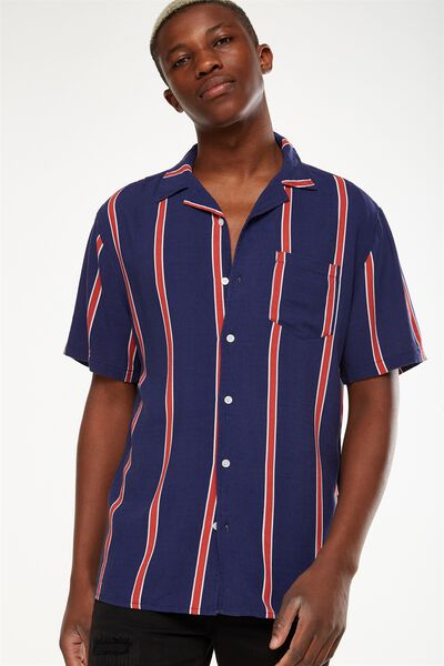 Festival Shirt, BOLD INDIGO STRIPE