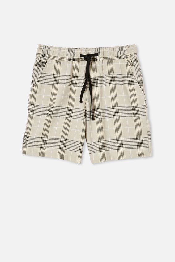 Lounge Short, OATMEAL CHECK