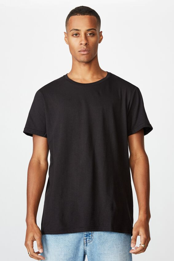 Essential Crew T-Shirt, BLACK