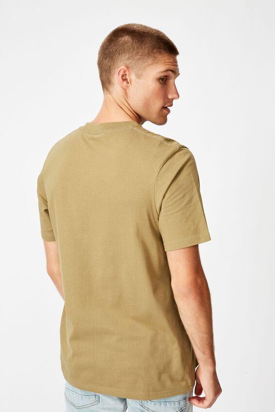 Tbar Text T-Shirt, SK8 BLAIR KHAKI/KUNG-FU MASTER