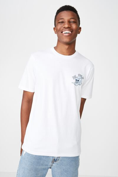Street T-Shirt, WHITE/ICE COLD