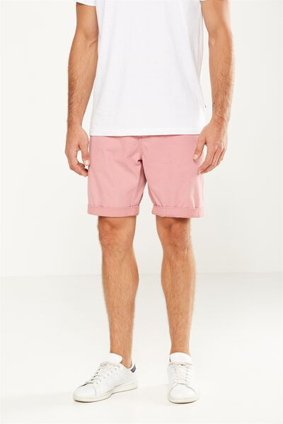 Washed Chino Short, ROSE PINK