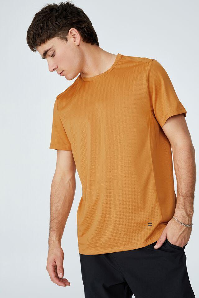 Active Tech T-Shirt, HONEY GOLD MESH
