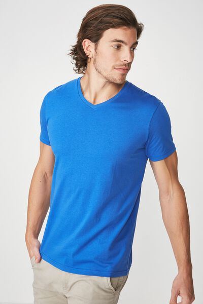 Essential Vee Neck, ELECTRIC BLUE