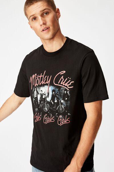 Tbar Collab Music T-Shirt, LCN EP SK8 BLACK/MOTLEY CRUE - GIRLS