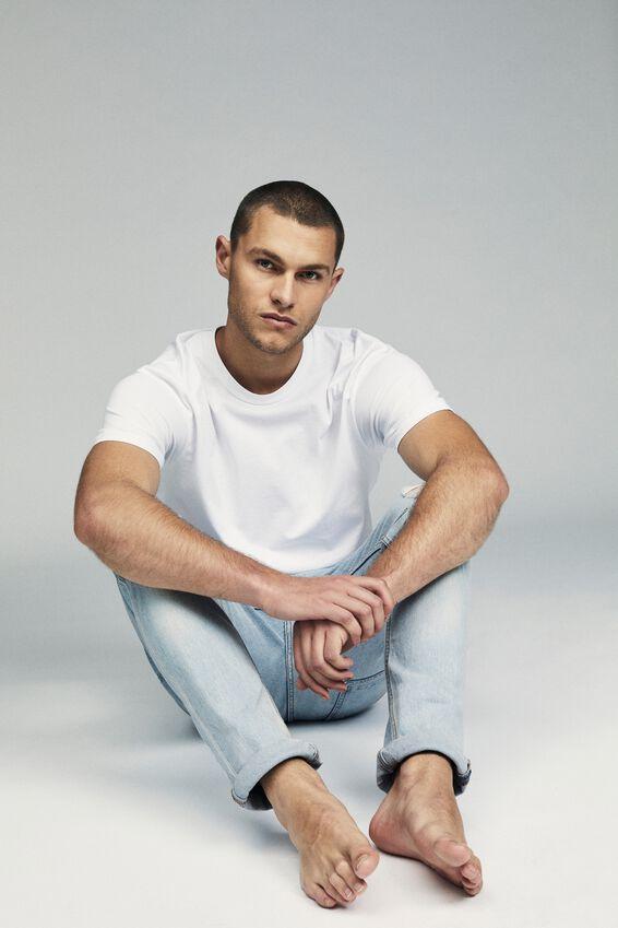 Tapered Leg Jean, CLOUD BLUE + RIPS