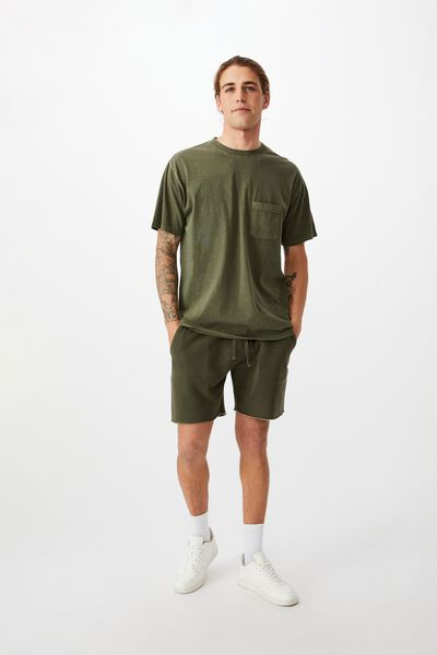 Pigment Fleece Short, PIGMENT KHAKI