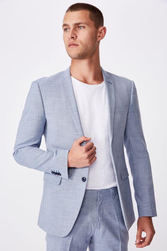 Slim Stretch Suit Jacket, DENIM BLUE