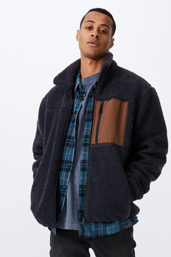 Pocket Teddy Zip Thru, NAVY