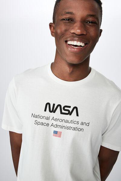 Tbar Collab Pop Culture T-Shirt, LCN NAS VINTAGE WHITE/NASA - LOGO