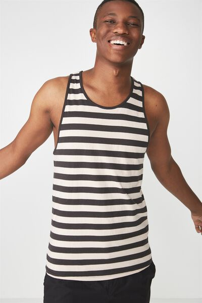 Tbar Anchor Tank, ROSE DUST/WASHED BLACK MID STRIPE